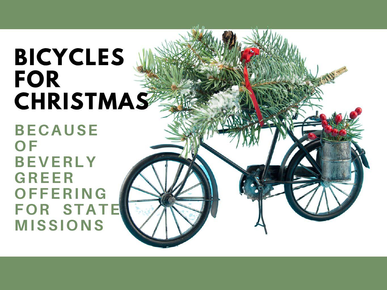 Bicycles at Christmas